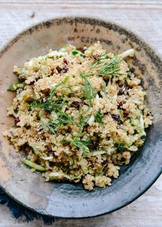 Recipe: Lemon Quinoa with Currants, Dill, and Zucchini