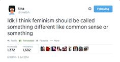 """Because feminism has a """"bad connotation"""""""