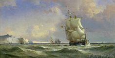 Anton Melbye - The Gathering Storm, 1853
