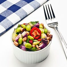 Healthy Edamame and Bean Salad:  This Three-Bean Salad Is a Great Side Dish — But Has Enough Flavor for a Main