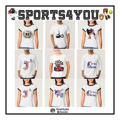 A small Collection of Gifts available ~ All-Sports Shirts and Hoodies Sports wear for the whole family. All-Sports Shirts, & more! #sports4you  #Gravityx9 Designs at Zazzle