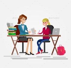Detailed Character Woman Teacher