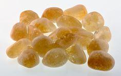 Citrine Tumbled Gemstone - Solar Gemstone of Cleansing Power