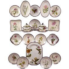 1stdibs   English Pearlware Botanical Dessert Service