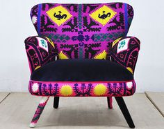 Smiley Patchwork fauteuil amour turquoise par namedesignstudio
