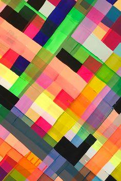 Maya Hayuk woven paint patterns