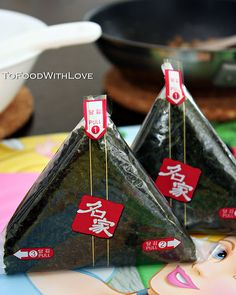 Triangle (Samgak) Kimbap - Kimbap wrapped up for snack or lunch so you have a crisp seaweed wrap while eating. Yummmm