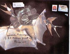 Enveloppe de Prévert à l'artiste Gérard Fromanger, 1974