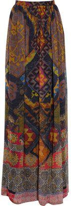 ShopStyle: Etro Printed silk-chiffon maxi skirt