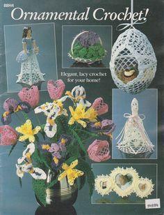 Ornamental Crochet  88H4  Vintage Pattern book by ButtonsnBooks, $10.99