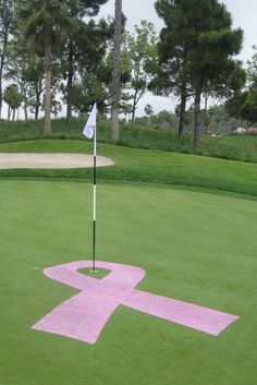 Closest to the hole except has to be on pink ribbon around the hole  Rally for the Cure Golf Event
