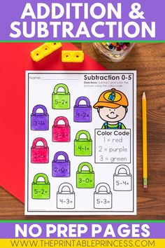 This adorable color by code resource helps students practice addition and subtraction within 10. All pages are in black and white and there's no prep work required. Students will take pride in their independent work as mathematicians!
