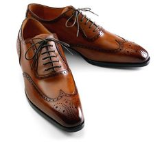 Leather formal shoes - Stylish Handmade Brown leather shoes, men's Lace Up shoes, Men's Wing Tip Brogue shoes Women's Shoes, Lace Up Shoes, Shoes Men, Ladies Shoes, Girls Shoes, Shoes Style, Girls Footwear, Ankle Shoes, Loafer Shoes