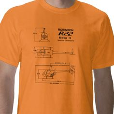R-22 Robinson Helicopter Blueprint T-Shirt from http://www.zazzle.com/helicopter+tshirts