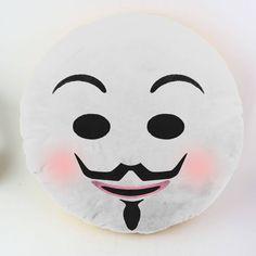 anonymous emoji pillow