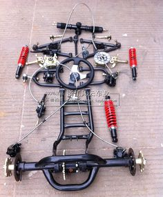 kit cars Online Shop Modified four-wheel vehicles accessories Karting ATV differential double disc brakes front and rear suspension kits rear axle Kit Cars, Build A Go Kart, Diy Go Kart, Karting, Go Kart Kits, Homemade Go Kart, Go Kart Buggy, Go Kart Plans, Kart Parts