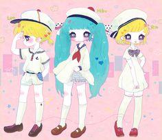 Vocaloid Kagamine Len,Hatsune Miku,Kagamine Rin