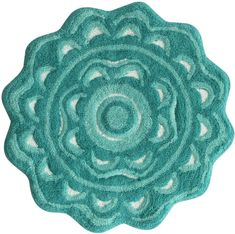 Add color and comfort to your bathroom with the Jessica Simpson Medallion Bath Rug. The colorful flower medallion-shaped bath rug is crafted of absorbent, all-cotton plush pile to catch and soak up all your bath and shower splashes. Green Bathroom Rugs, Aqua Area Rug, Mint, Bath Rugs, Accent Rugs, Flower Shape, Outdoor Area Rugs, Rugs Online, Throw Rugs