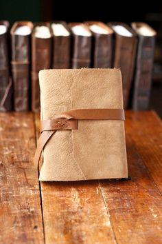 Tan Leather Journal - Rustic Handmade Leather Journal
