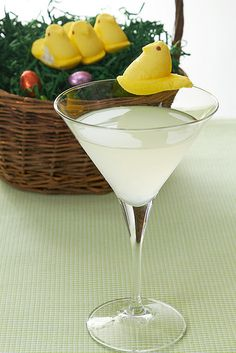 Bunny Ears Martini/ 3 oz.  Georgi Coconut Flavored Vodka/ 3oz.  Grapefruit Juice/ Dash of Llord's Lime Mixer/  Shake in Cocktail Shaker and Garnish with lime