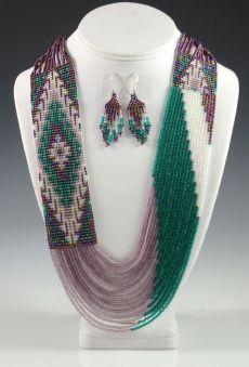(13) Navajo Beaded Necklace, Rena Charles, Navajo Necklace, Sedona Indian Jewelry, Sedona Native American Jewelry, Oak Creek Canyon | Crafts