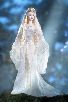 Lady Galadriel, from The Lord of the Rings. Barbie by Matel.: