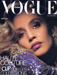 Jerry Hall by Albert Watson Vogue Paris September 1984