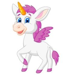 Cute unicorn cartoon vector