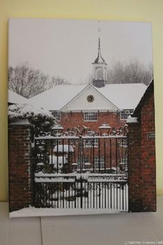 The Whitchurch Silk Mill during a snow storm with nearby fences and roofs ...    otw.whitchurcharts.org.uk