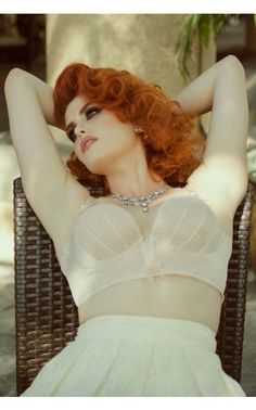 Retrolution Staylo Plunge Bra in Blush - Wedding Belles - Collections | Pinup Girl Clothing