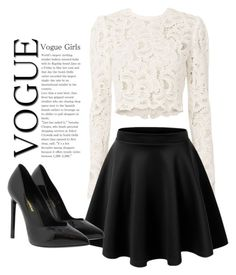 """""""Untitled #57"""" by lenka-skodiova ❤ liked on Polyvore featuring A.L.C., LE3NO and Yves Saint Laurent"""