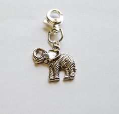 Elephant Keychain Silver or Gold by AmericanDistrict on Etsy, $7.50