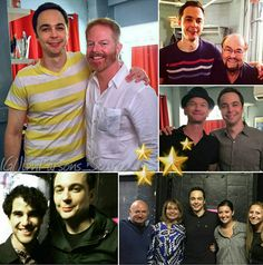Jim Parsons with some of the people who stopped by backstage.