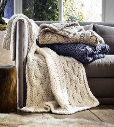 "Shop our  entire Home Collection including the Oversized Knit Blanket - 50x70"". Free Shipping & Free Returns on Authentic UGG Baby items at UGGAustralia.com. Feels Like Nothing Else."