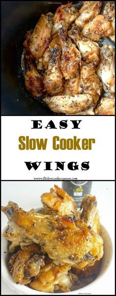 Healthy slow cooker / crockpot recipe -  Using a healthy homemade sauce, this chicken recipe is perfect for game day or Sunday dinner. Not just for wings, this can be used on other cuts too.