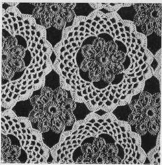 Galaxy Bedspread Pattern #648 swatch. Free crochet pattern