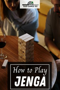 If you are not sure how to play the game, or of the Jenga rules, you can learn all about it here.  Jenga is fun, easy, and perfect for people of all ages. It also happens to be a great bar game. Drinking Jenga Rules, Drinking Games, Drunk Jenga, Jenga Tower, Jenga Blocks, Jenga Game, Giant Jenga, Bar Games, Different Games