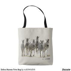 Zebra Harem Tote Bag