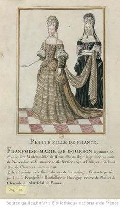 [Portraits de dames en grand costume de cour]