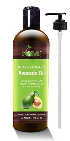 Avocado Oil by Sky Organics  100 Pure Natural  ColdPressed Avocado Oil  Ideal for Massage Cooking and Aromatherapy Rich in Vitamin E and Oleic Acid  8oz ** Find out more about the great product at the image link. (Note:Amazon affiliate link)