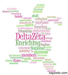 Words of Delta Zeta.. feel like this could be made as a poster or something for recruitment? @Tracy Gershon