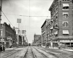 """Little Rock, Arkansas, circa """"Main Street north from Sixth.""""Shorpy Historical Photo Archive :: Little Rock: 1910 Main Street, Street View, Shorpy Historical Photos, Little Rock Arkansas, Interesting History, Interesting Stuff, Down South, History Photos, Black And White Pictures"""
