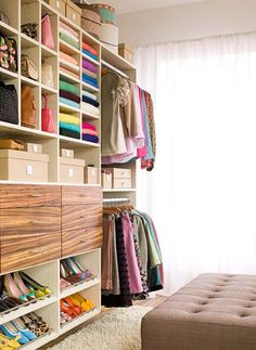 closet dressing room organization