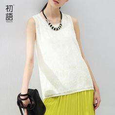 c8138c99c69a5 Toyouth Summer New Women s Tank Tops Sleeveless Casual Pattern Loose Solid  Color Sexy Style O-