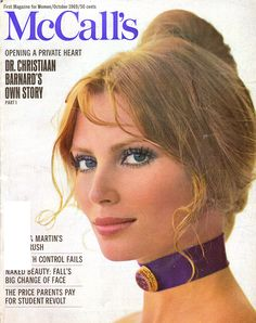 McCall's - October, 1969 Retro Makeup, Vintage Makeup, Vintage Beauty, 70s Makeup, Makeup Inspo, 1969 Fashion, Fashion Cover, Victorian Fashion, Vintage Fashion