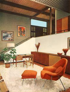 1960s Interior Design, Interior Ideas, Interior Decorating, Dining Corner, 60s Furniture, Retro Home Decor, Vintage Decor, Instagram, Vintage Interiors