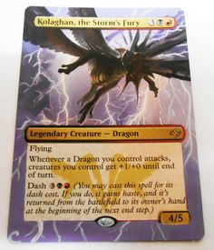 MTG Altered Painted Kolaghan the storms fury Fate reforged #WizardsoftheCoast