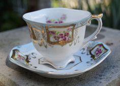 Rare Shafford Japan tea cup  floral tea cup  by SumertaDesigns