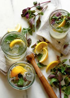 Try this gin + basil drink for a relaxing evening
