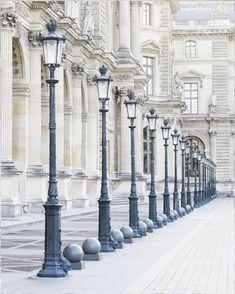 Lamp posts at the Louvre in an elegant print collection. #Paris #Louvre Paris Photography, Fine Art Photography, Travel Gallery Wall, Travel Wall, Parisian Architecture, Green Architecture, Paris Home Decor, Springtime In Paris, Paris Images